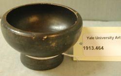 Black-glazed bowl or saltcellar