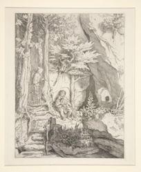 Sackpfeifer und Einsiedler (Bagpiper and Hermit)