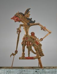 Puppet (Wayang Klitik) probably of Rukmarata