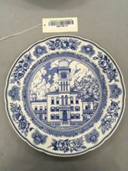Plate with view of Sheffield Hall