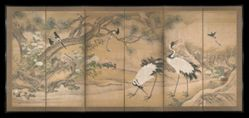 Cranes and Birds in Landscape