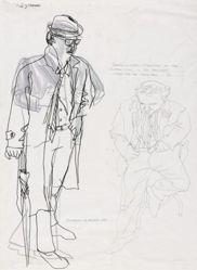 Daniel and Glen Standing in for Clyfford Still and Ad Reinhardt (Study for Cedar Bar) (recto); Motherwell (Study for Cedar Bar) (verso)