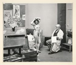 Matisse with His Model, from A Portfolio of 10 Photographs by Brassai