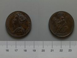 Halfpenny of Anne, Queen of Great Britain from England