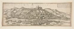 "Topographical View of Marburg, from ""Civitates Orbis Terrarum"" I 26"