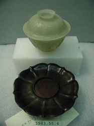 Bowl with cover and base