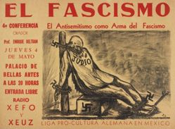 El fascismo: 4a conferencia, El antisemitismo como arma del fascismo (Fascism: 4th Lecture,  Anti-Semitism as a Weapon of Fascism)