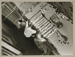 Gathering for a Demonstration, (The Courtyard of the house on Myasnitskaya), from The Alexander Rodchenko Museum Series Portfolio, Number 1: Classic Images