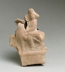 Terracotta horseman figurine