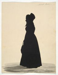 Silhouette of Mrs. M. Perkins