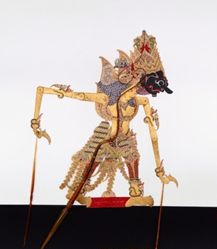 Shadow Puppet (Wayang Kulit) of Prabu Suteja, from the consecrated set Kyai Nugroho