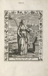 Saint Ursula, 1 of 25 plates from the series Martyrologium Sanctarum Virginum (Female Martyr Saints)
