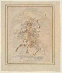 """Death on a Horse, study for the etching in the """"Five Deaths"""" series"""