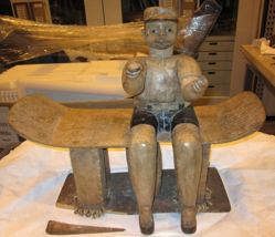 Stool with Seated Male Figure