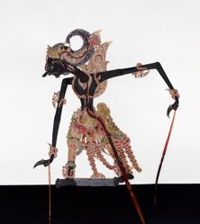 Shadow Puppet (Wayang Kulit) of Gatotkaca, from the set Kyai Drajat