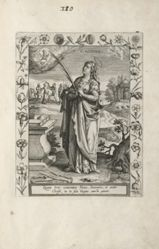 Saint Agatha, 1 of 25 plates from the series Martyrologium Sanctarum Virginum (Female Martyr Saints)