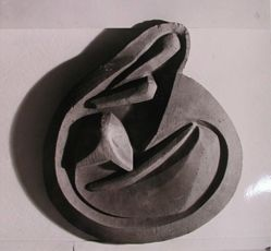 "Photograph of Raymond Duchamp-Villon's ""Cat,"" 1913, plaster [Guggenheim Museum] -- from Katherine S. Dreier's private collection"