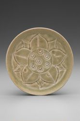 Dish with Lotus Decoration