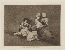 Las mugeres dan valor (The Women Give Courage), Plate 4 from Los desastres de la guerra (The Disasters of War)
