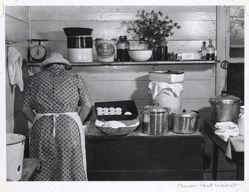 Woman Baking Biscuits