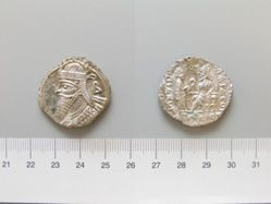 Tetradrachm of Vologases III from Parthia