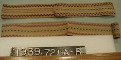 Two lengths of ribbon