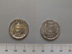 5 Pesos of the Republic of Argentina