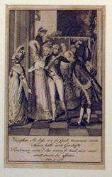 Scene of King Frederick William III and Queen Louise of Prussia shortly after their ascension to the throne