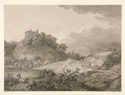 View of Nossen Castle in Saxony