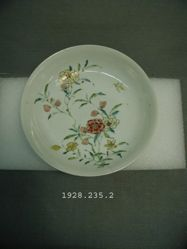 Dish with Floral Design and Butterfly