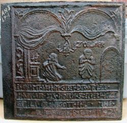 "Stove Plate, ""Pharisee and Publican"""