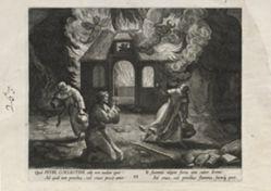Petrus Coelestinus, number 23 of 25 numbered plates from Trophaeum Vitae Solitariae (Male Hermits)