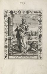 Saint Prisca, 1 of 25 plates from the series Martyrologium Sanctarum Virginum (Female Martyr Saints)