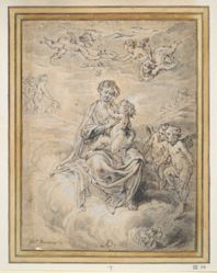Virgin and Child in Heaven, with Putti