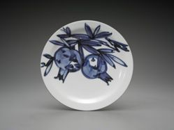 Plate with design of pomegranates