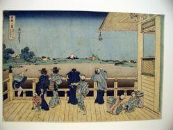 Fuji from Gohyaku Rakan Temple, from the series Thirty-six Views of Mount Fuji