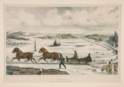 A Winter Scene / County of St. Lawrence State of New York