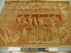 """Printed cotton handkerchief, """"Stage of Europe, 1812"""""""