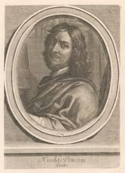 Nicolas Poussin, from the book Les hommes illustres..., by Charles Perrault (Paris: Dezalliers, 1696-1700), vol. I