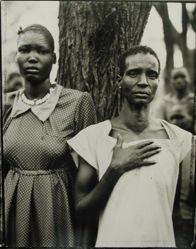 Ajoh Achot and Achol Manyen, family section, Sudanese refugee camp, Lokichoggio, Kenya