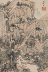 Landscape in the Style of Various Old Masters: Landscape after Ma Wan (active 14th century)