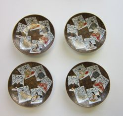 Small Dishes with Images of Poets and Poems