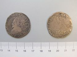 Silver Shilling of Charles I from Oxford