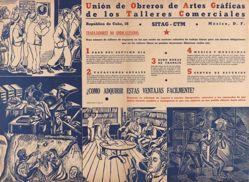 Unión de Obreros de Artes Gráficas de los Talleres Comerciales (Union of Graphic Arts Workers in Commercial Workshops)