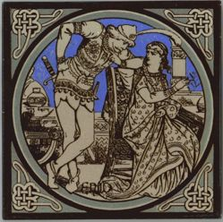 "One of a set of Minton tiles: ""Enid"""