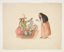 Fish Merchant and Indian Woman