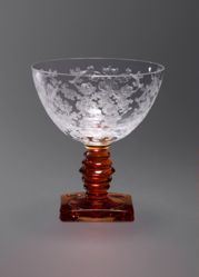 "Champagne or Tall Sherbet Glass, ""Queen Anne"" Pattern"