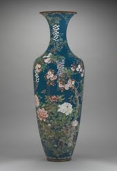 Cloisonne Vase on Stand