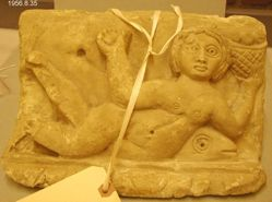 relief depicting a nereid riding on a dolphin