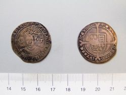 Silver Sixpence of Edward VI from London